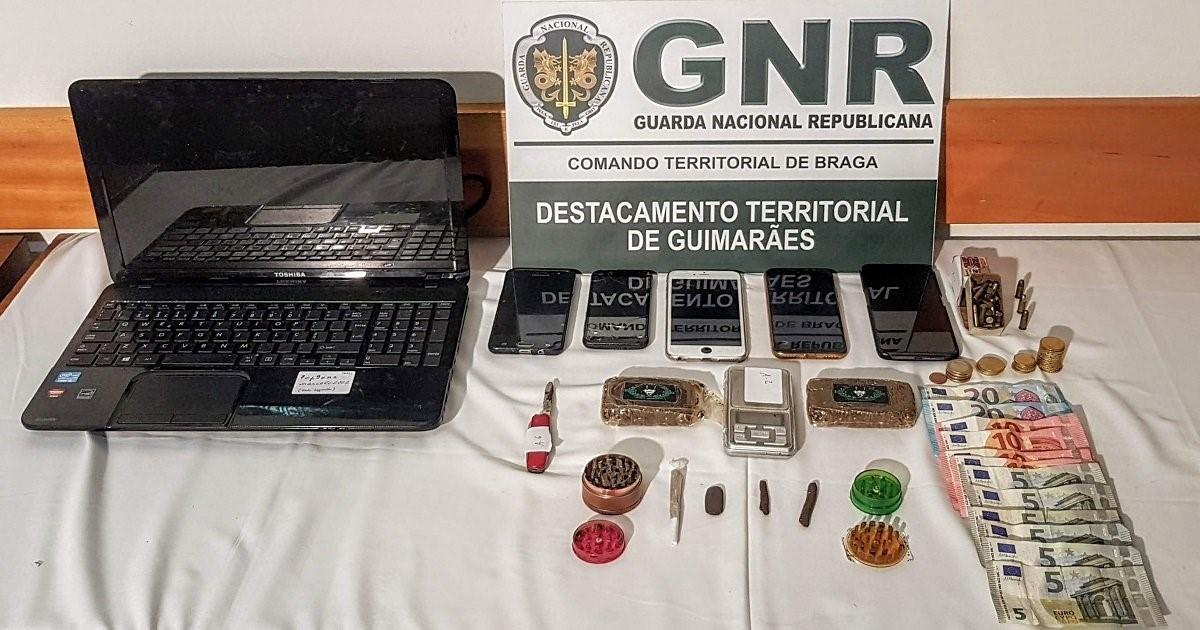 Quarteto detido por tráfico de droga em Guimarães