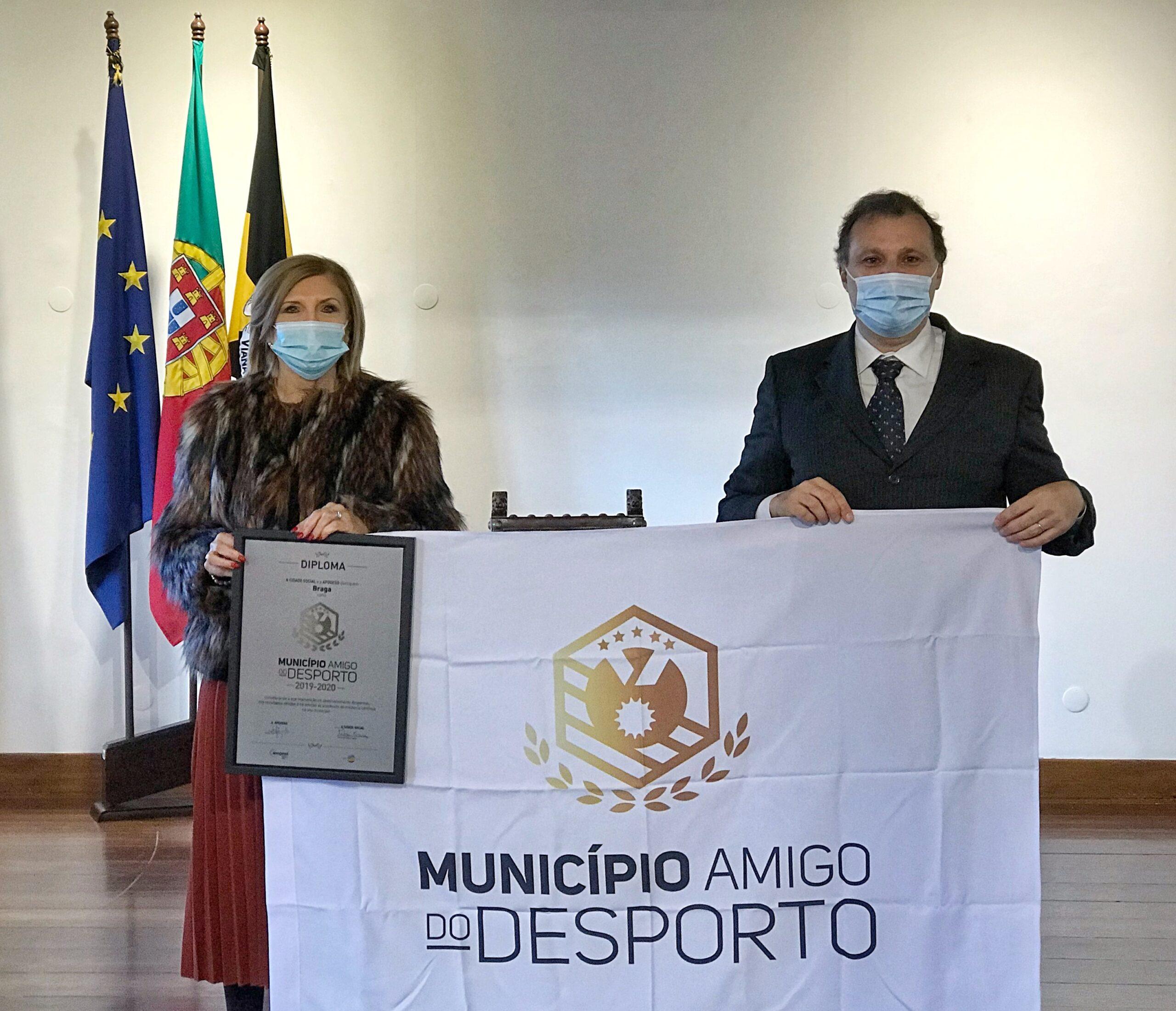 Braga distinguida com o galardão Município Amigo do Desporto