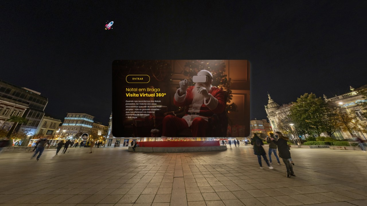 Visita Virtual 360º permite viver Natal no coração de Braga