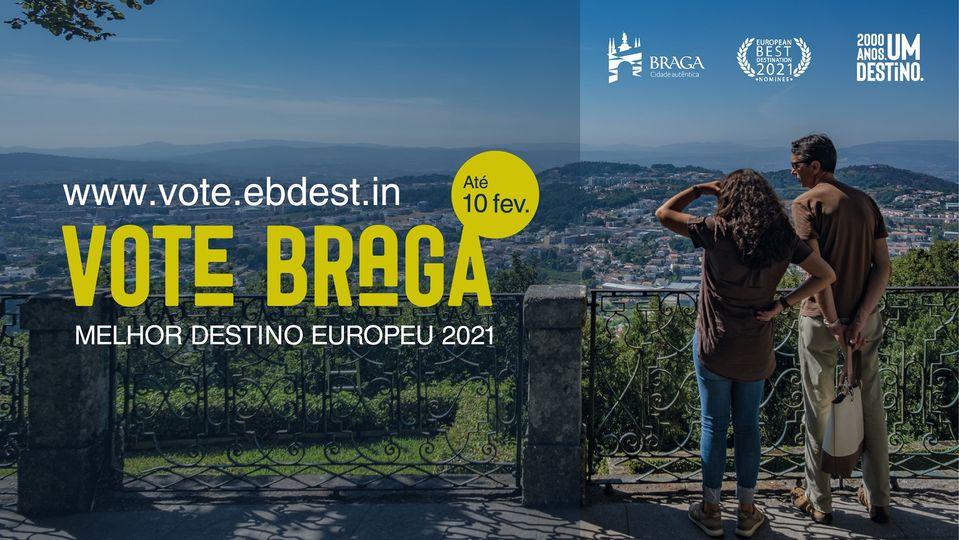 Votação para Braga para Melhor Destino Europeu 2021 já decorre