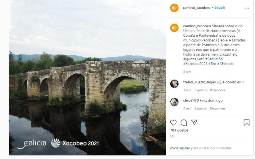 Instagram destaca caminho que liga Braga a Santiago de Compostela