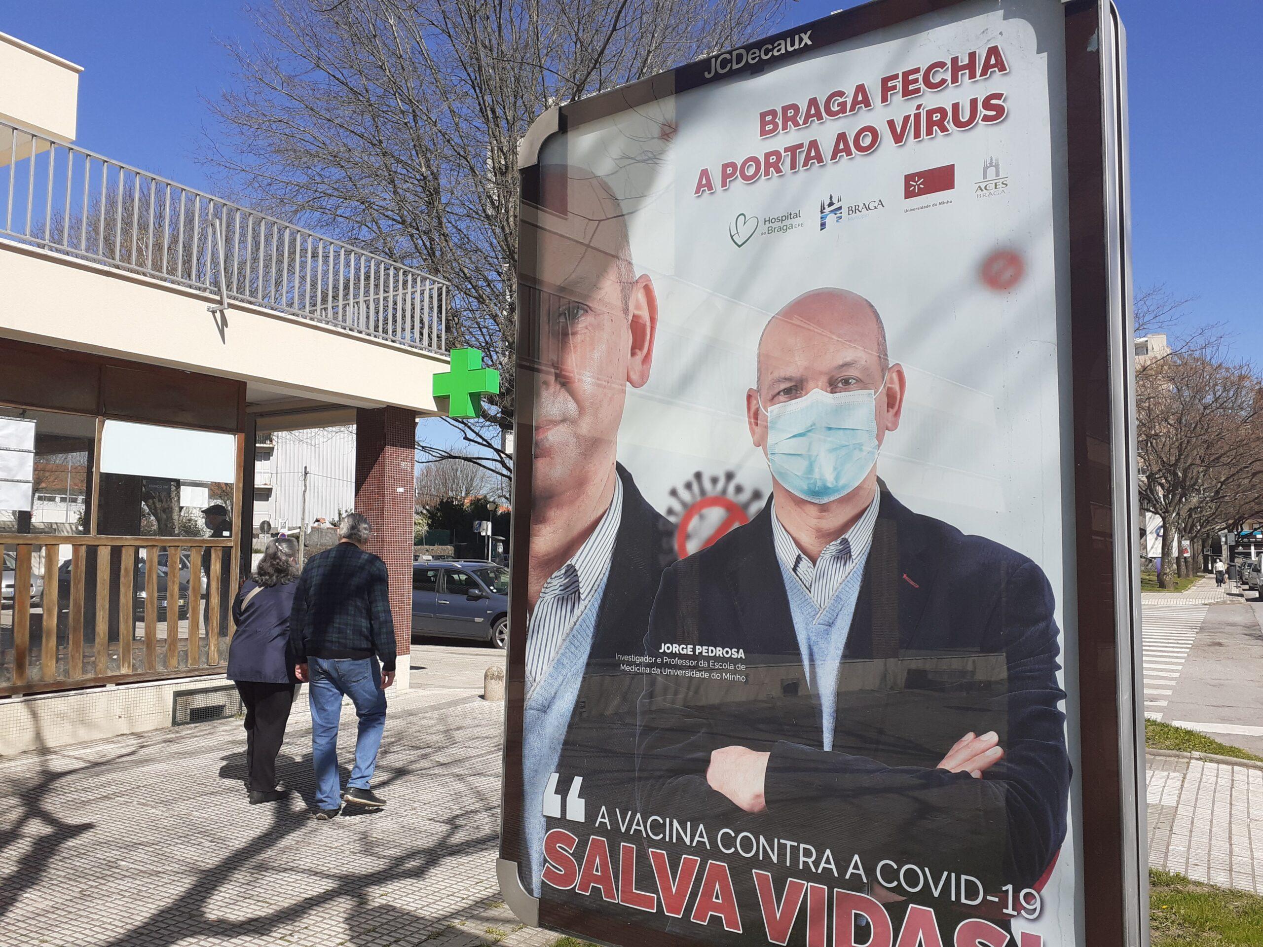 Todo o distrito de Braga continua em risco moderado de contágio por covid-19