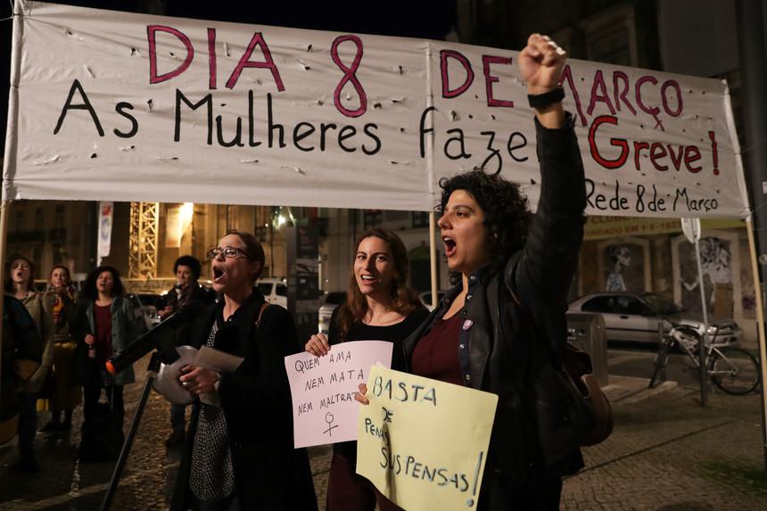 Braga palco de Greve Feminista Internacional a 8 de Março, Dia Internacional da Mulher