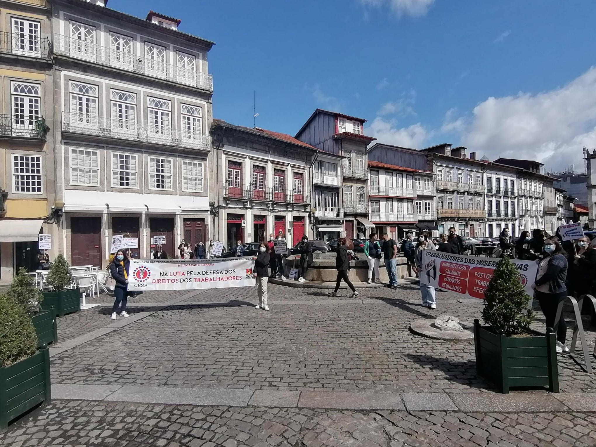 Três dezenas de trabalhadores da Santa Casa da Misericórdia de Guimarães em greve por melhores salários