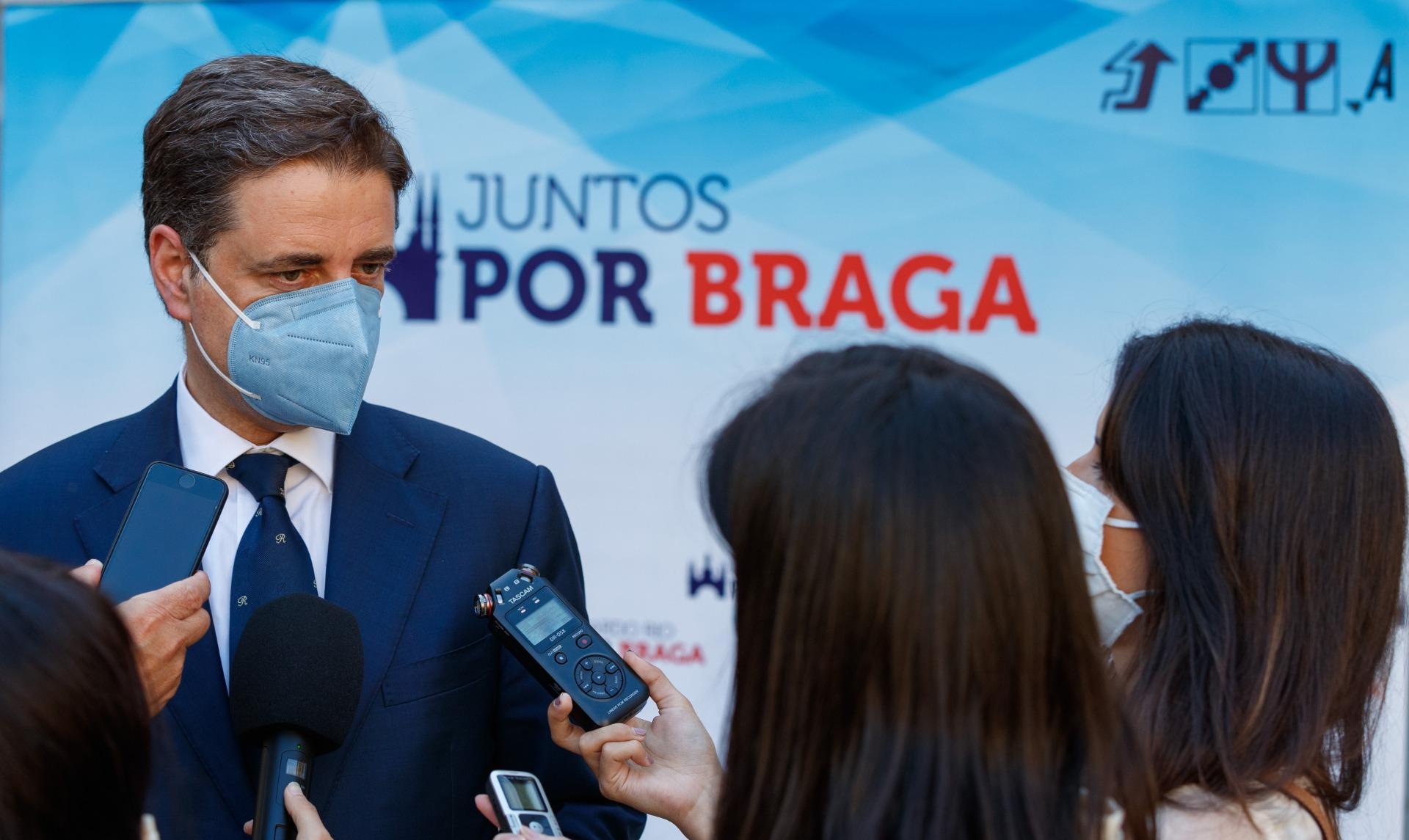 """Autárquicas. Juntos por Braga reforçada pelo Aliança recandidata Ricardo Rio com """"projecto vivo"""" para a cidade"""