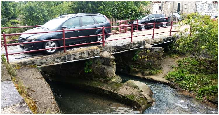 Ponte dos Galos em Braga fechada ao trânsito automóvel. Só permitido atravessamento a pé ou de bicicleta