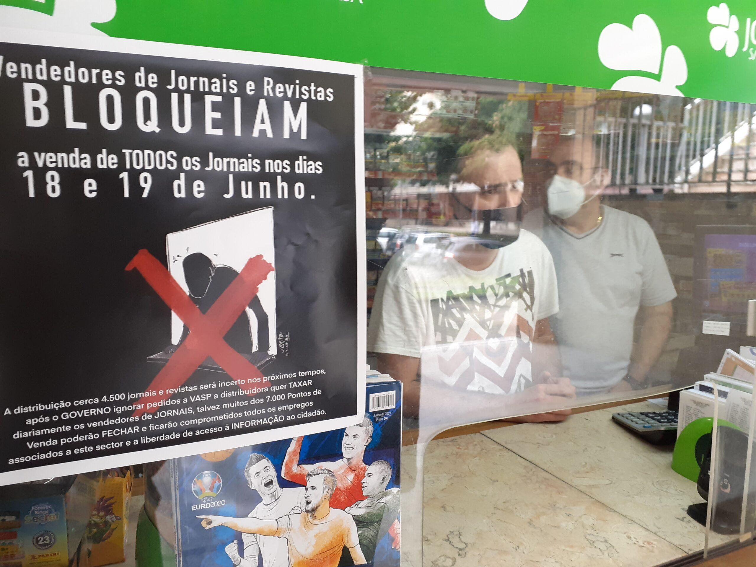 """""""Grande maioria"""" dos quiosques de Braga adere ao boicote de dois dias à venda de jornais contra taxa extra de comercialização"""