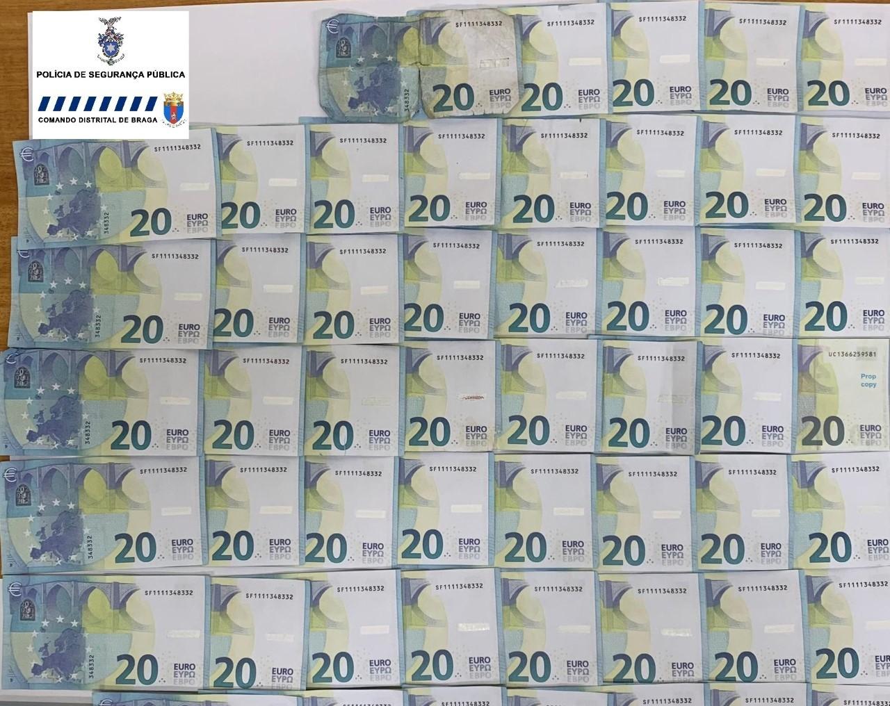 PJ/Braga investiga origem das 52 notas falsas apreendidas pela PSP