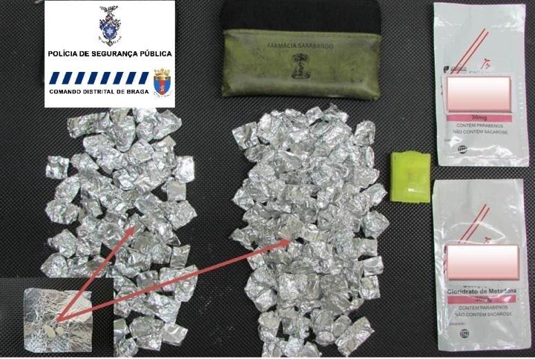 PSP apreende centenas de comprimidos de Buprenorfina e metadona em Guimarães