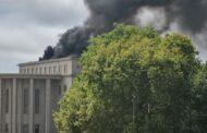 Maçarico começou fogo no Palácio da Justiça do Porto