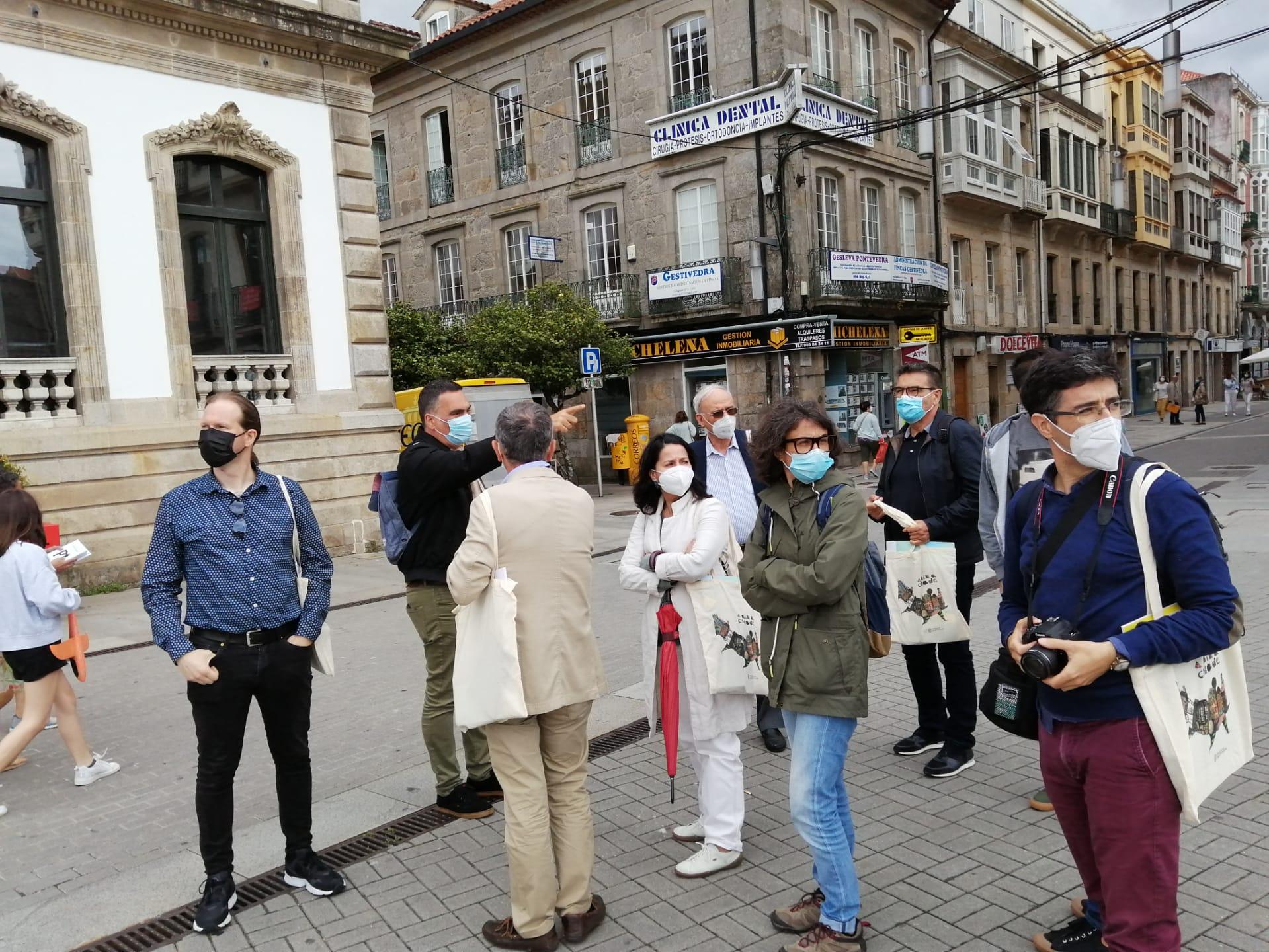 Bloquista Luís Lisboa procura na Galiza soluções de mobilidade amiga das pessoas para Guimarães