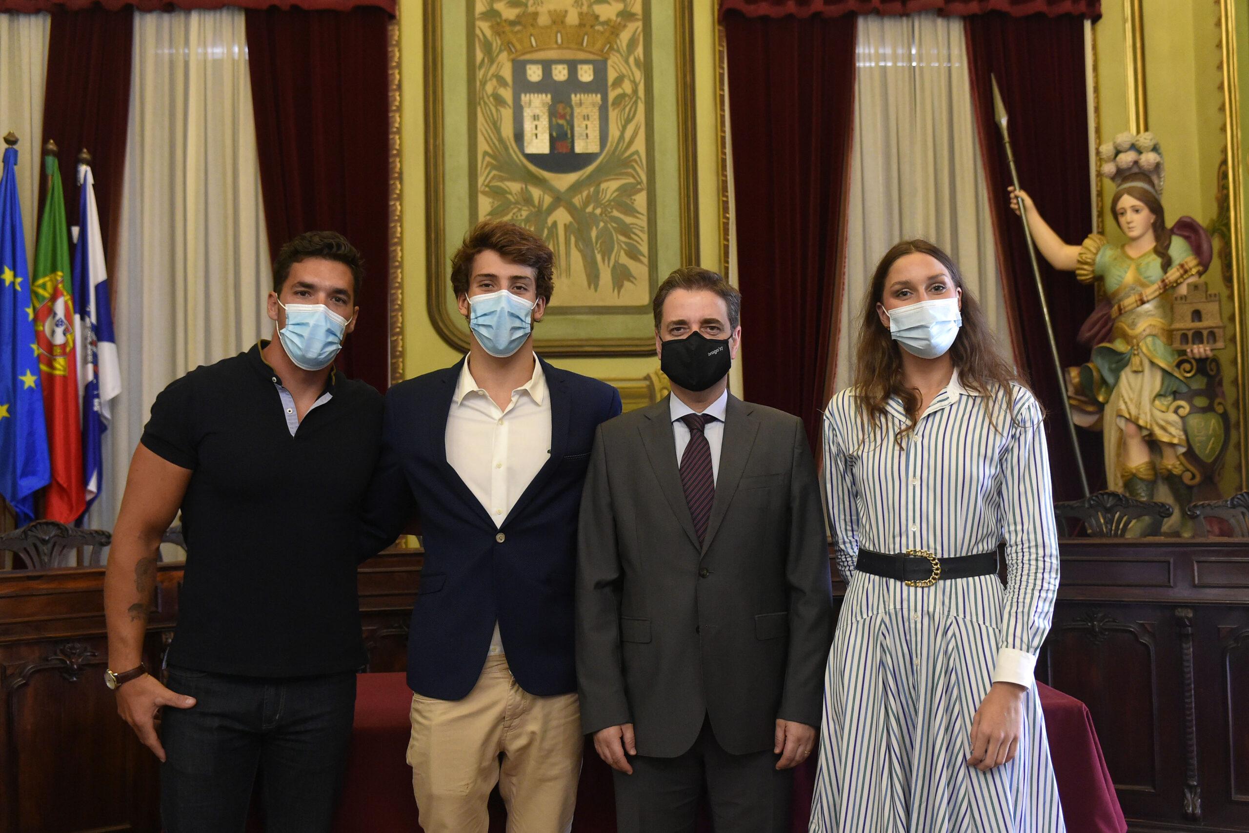 Atletas de Braga aos Jogos Tóquio 2020 recebidos na Câmara Municipal