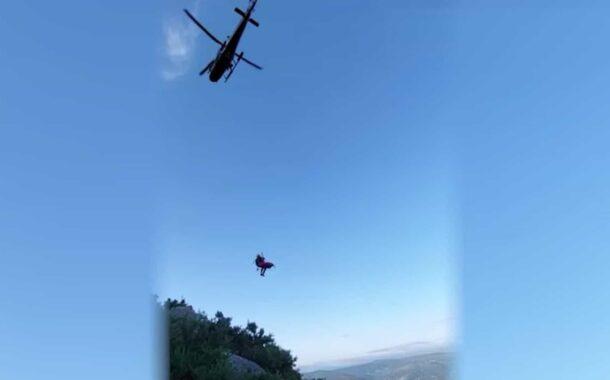 Força Aérea resgata mulher que ficou ferida após queda em Ponte de Lima (c/vídeo)