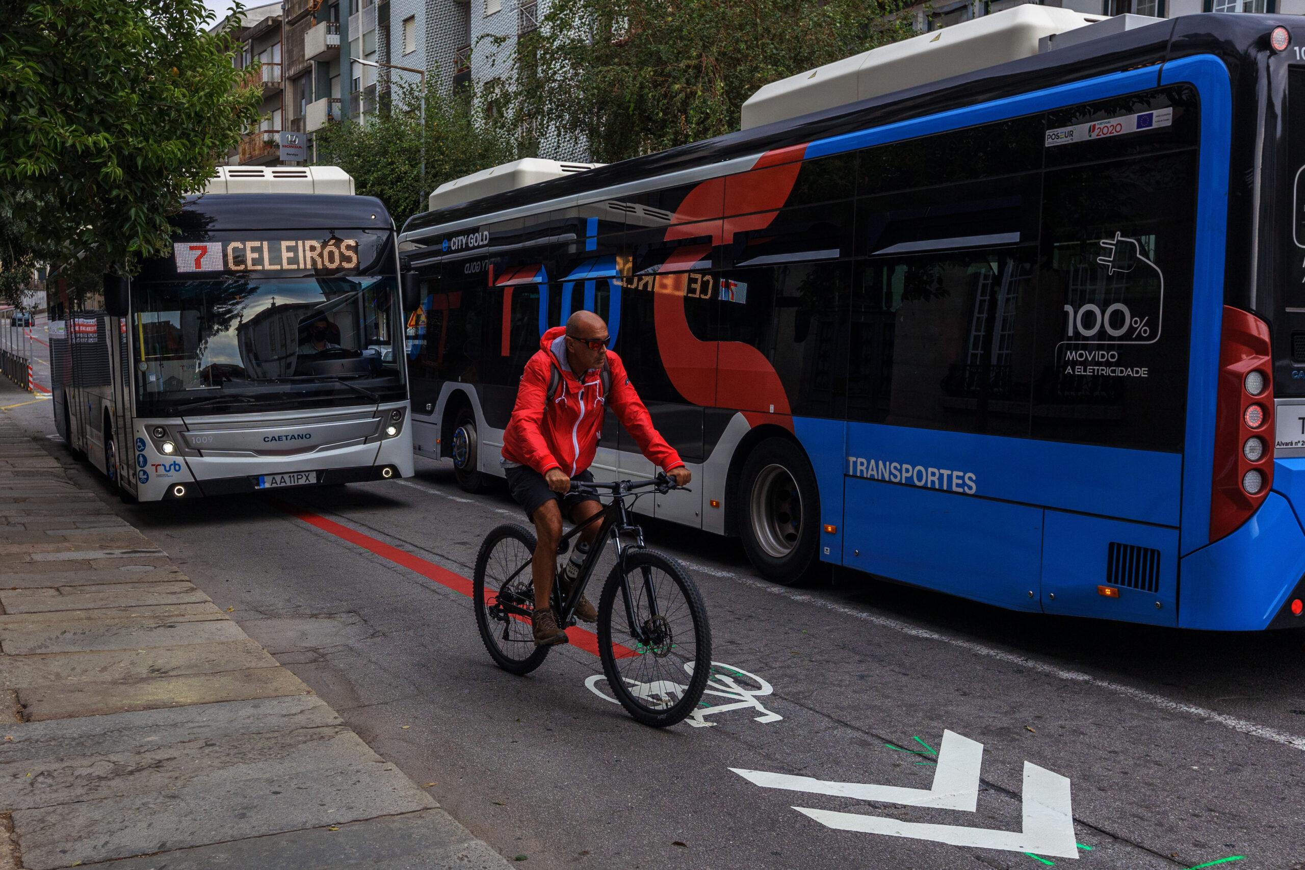 Braga implementa modelo pop-up de vias partilhadas e rede ciclável ao centro da cidade