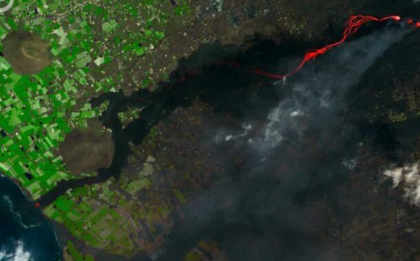 La Palma. IPMA divulga imagens satélite dos rios de lava a chegar ao mar