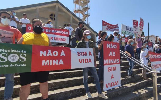 SOS Terras do Cávado de Barcelos junta-se em Viana a protesto contra projectos de exploração de lítio